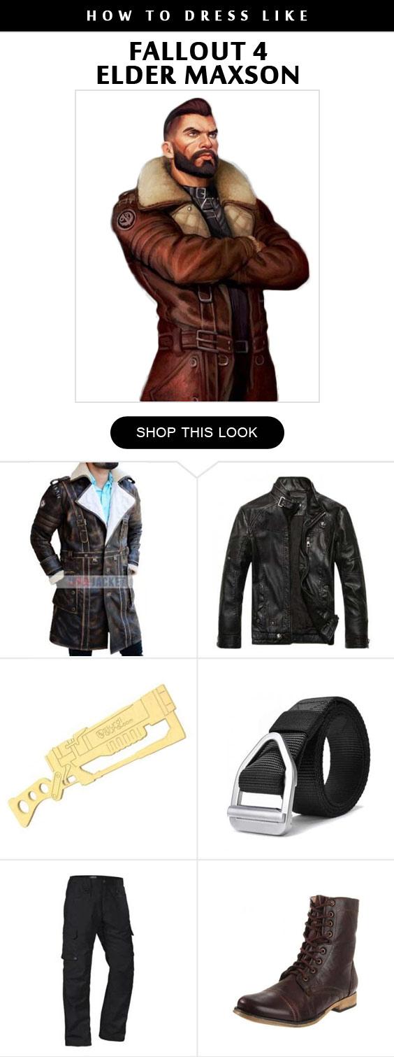 Fallout 4 Elder Maxson Cosplay Costume Infographic