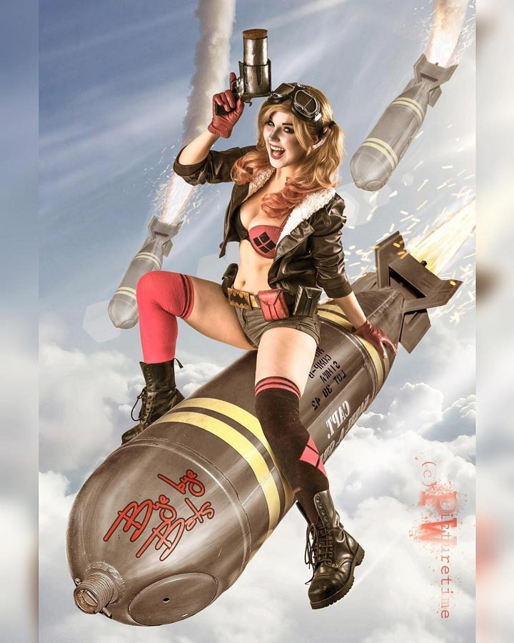 Harley Quinn Bombshell Cosplay by Liechee