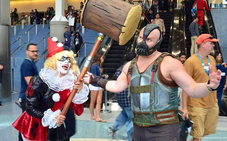Harley Quinn and Bane Couple Costume