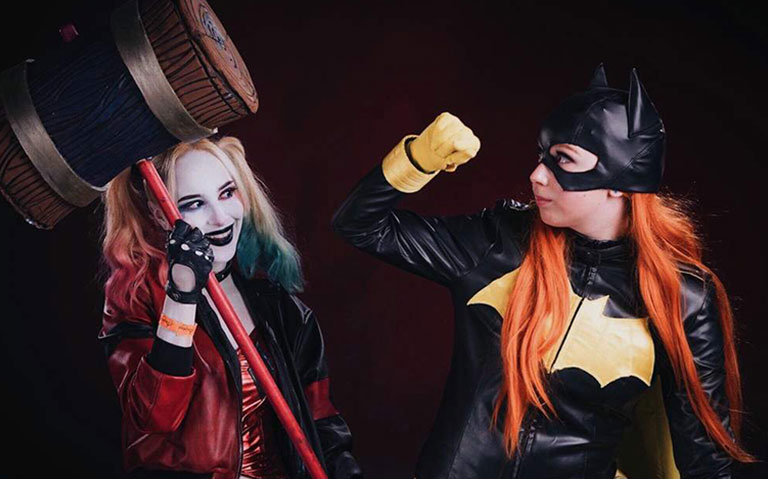 Harley Quinn and Batgirl Couple Costume