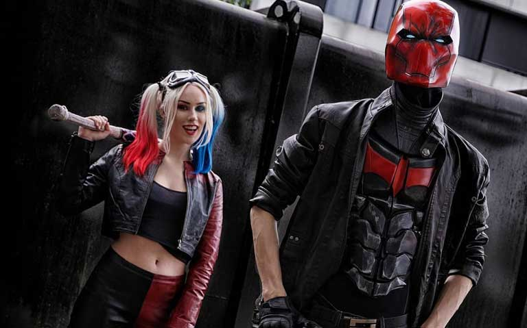 Harley Quinn and Red Hood Couple Costume