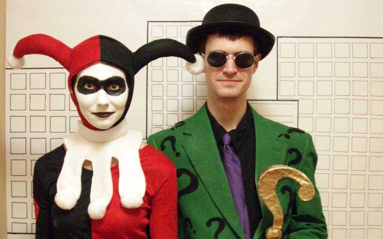 Harley Quinn and The Riddler Couple Costume