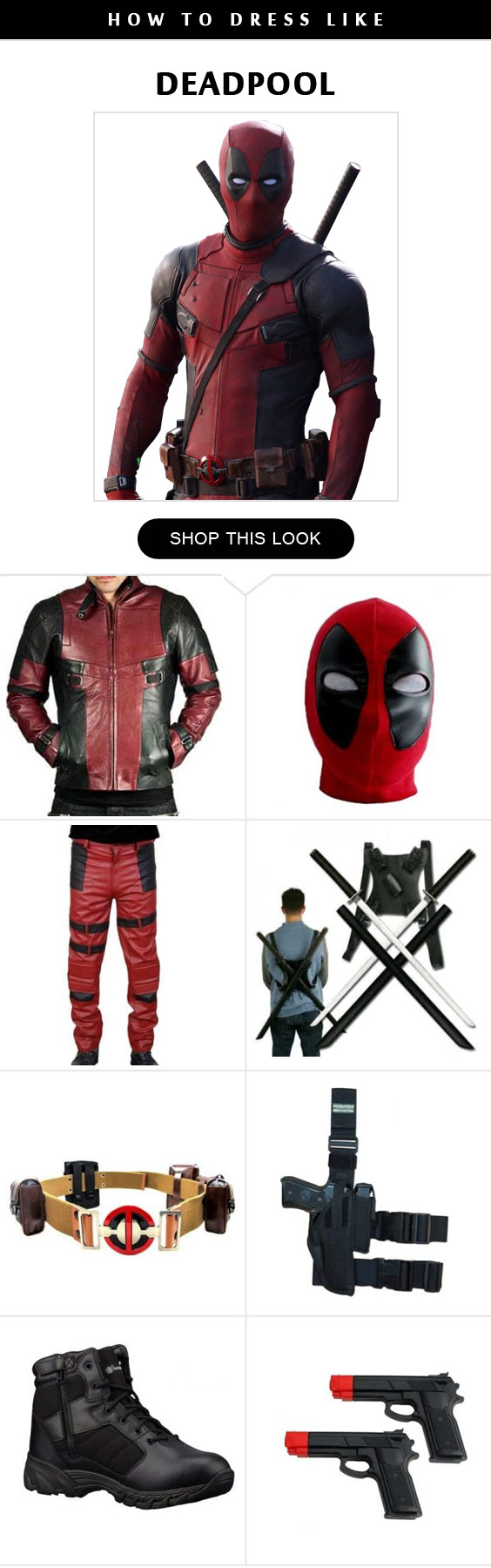 The complete deadpool costume guide for merc with a mouth family deadpool cosplay costume infographic solutioingenieria