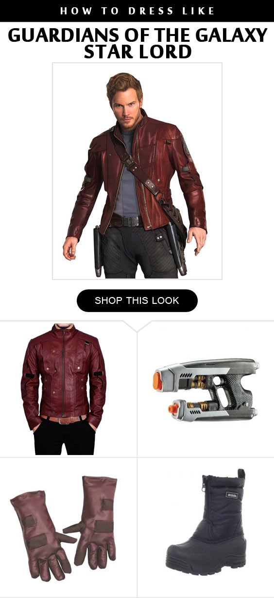 Star Lord 1 Costume Infographic