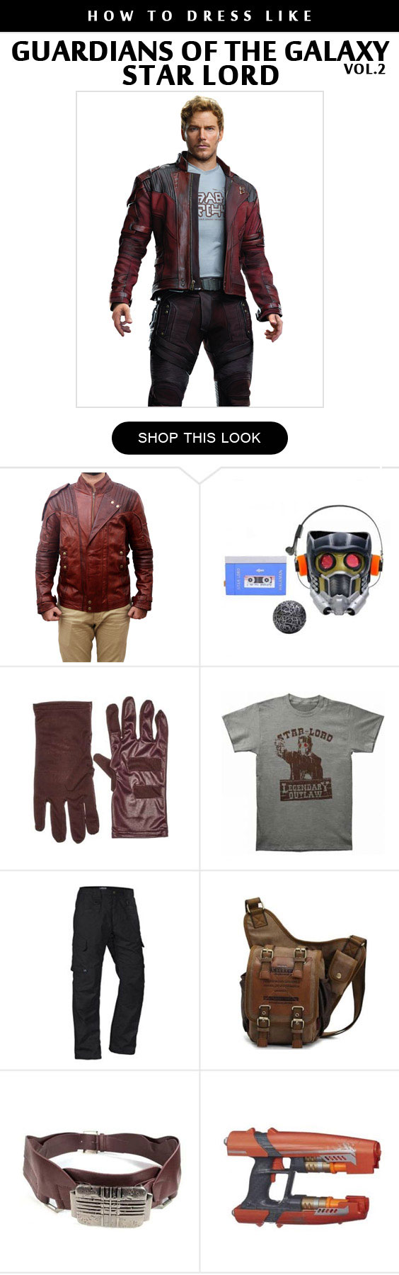 Star Lord 2 Costume Infographic
