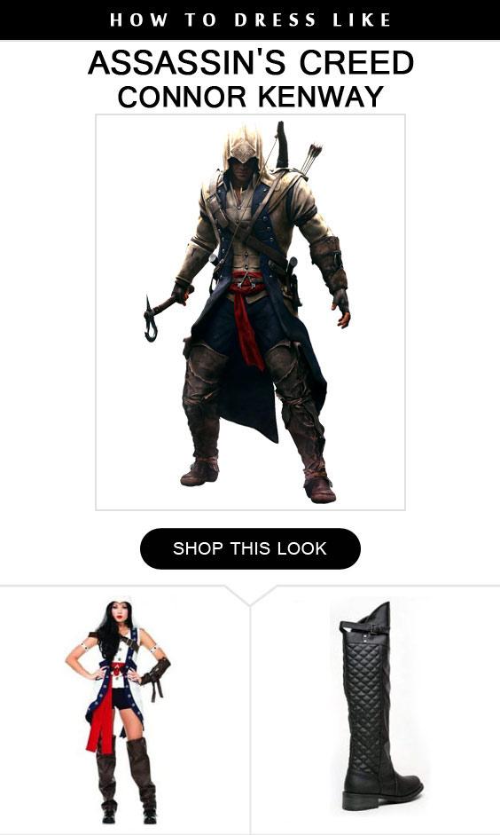Connor Kenway For Women Costume Infocrapgic