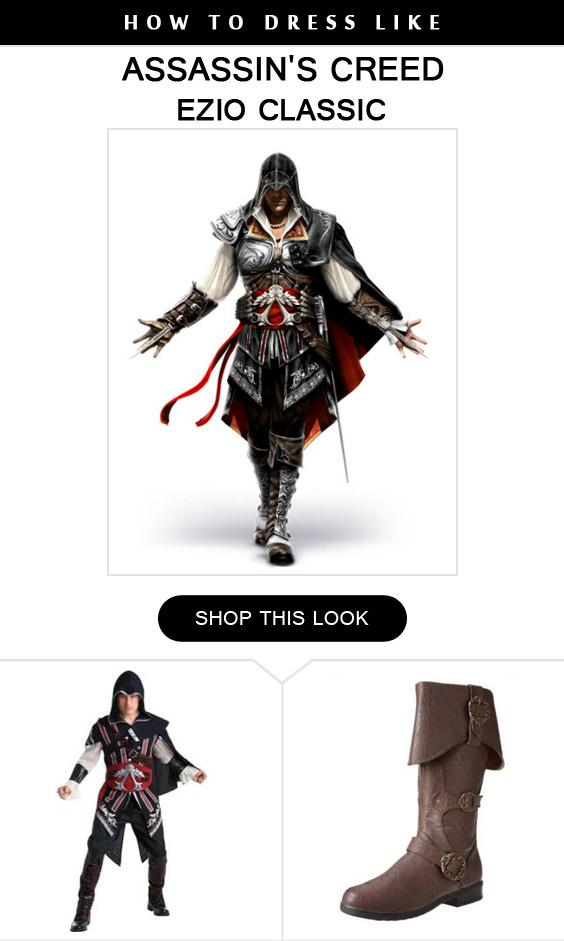 Ezio Classic Costume Infocrapgic