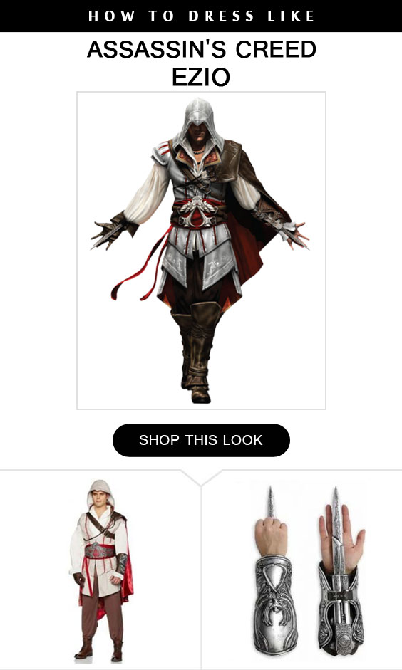 Ezio Costume Infocrapgic