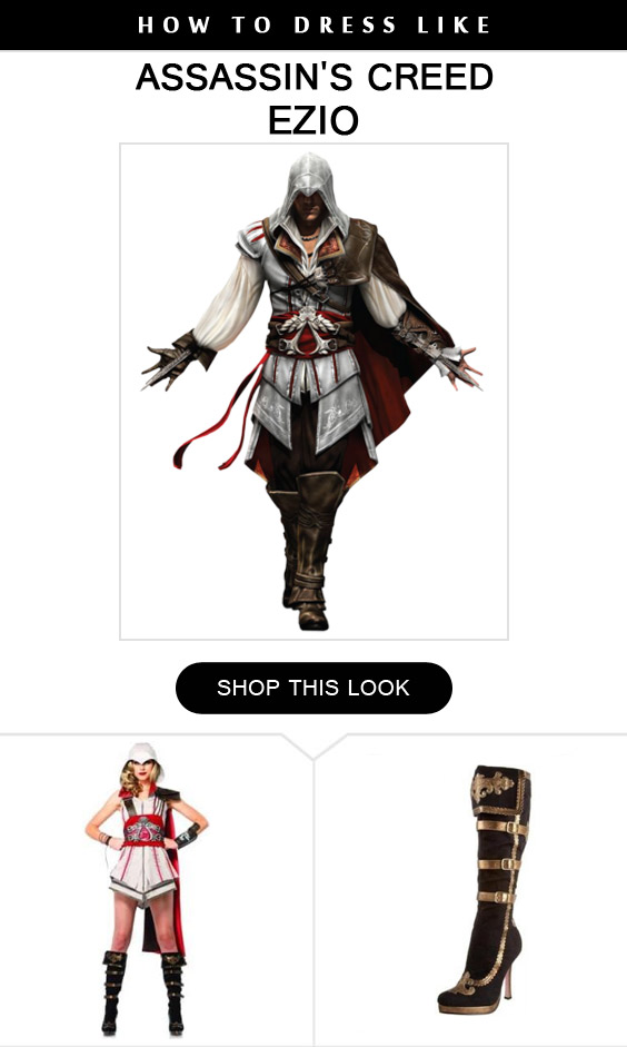 Ezio For Women Costume Infocrapgic