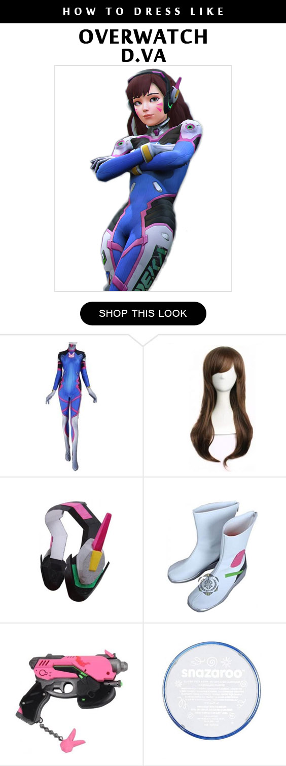 Overwatch D Va Costume Infographic