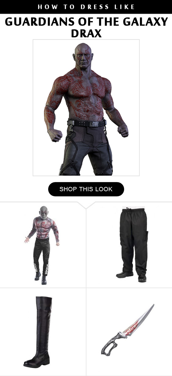 The Destroyer Drax Costume Infographic
