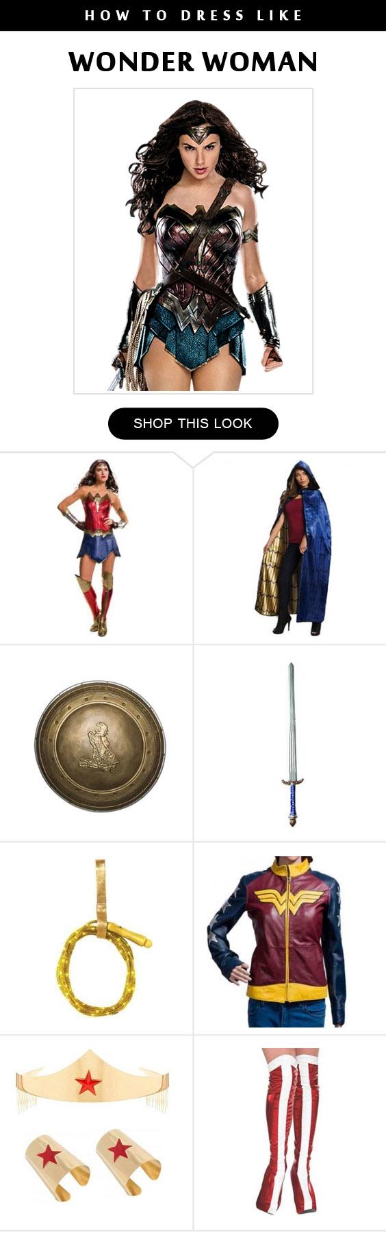 Wonder Woman Costume Infographic