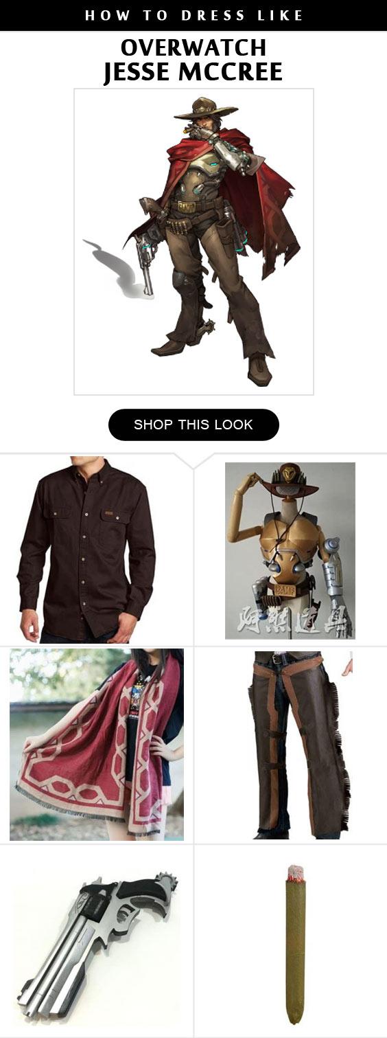 Overwatch Jesse Mccree Cosplay Costume Infographic