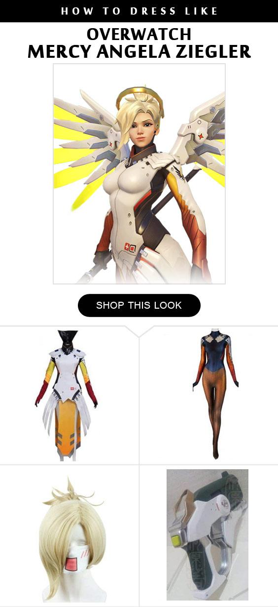 Overwatch Mercy Angela Ziegler Cosplay Costume Infographic