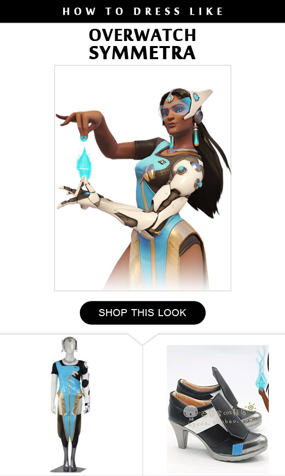 Overwatch Symmetra Cosplay Costume Infographic