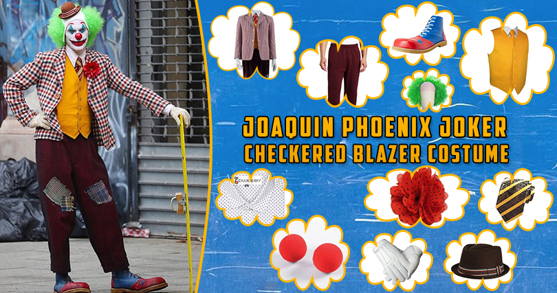 Joaquin Phoenix Joker Checkered Blazer Costume