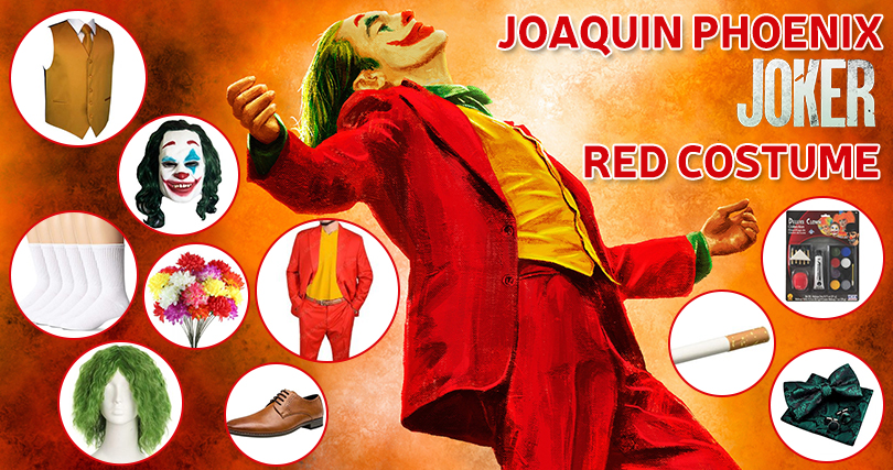 2019 Joker Red Suit Costume
