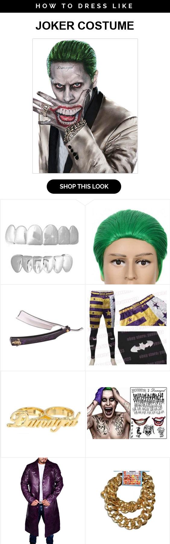 Suicide Squad Joker Costume Infographic