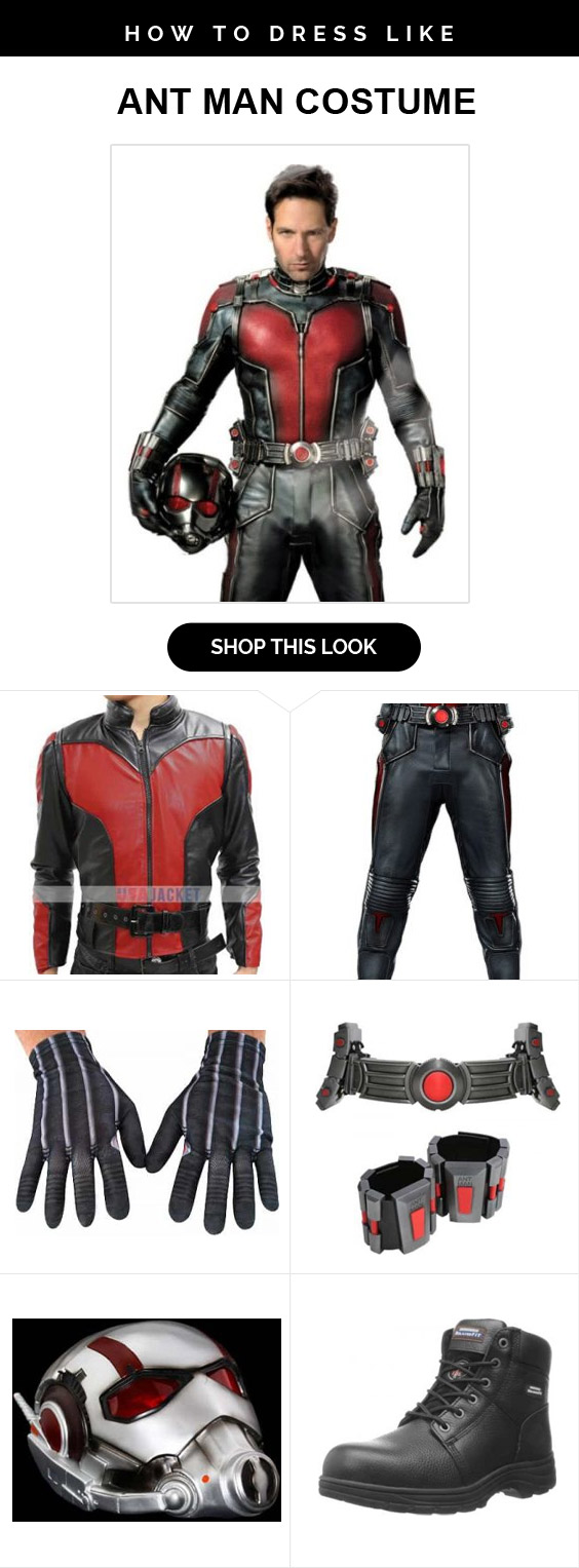 Ant Man Costume Infographic