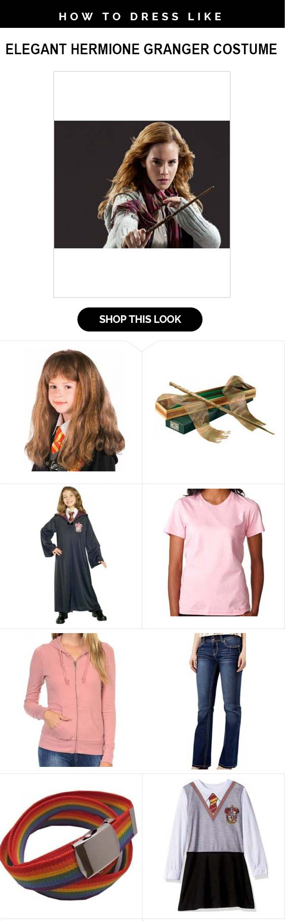 Become The Clever Gryffindor Witch With Hermione Granger Costume