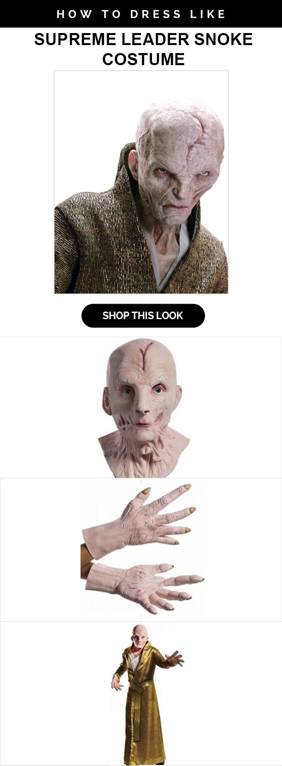 Star Wars Supreme Snoke Costume