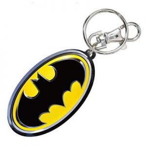 Bruce Wayne Logo Colored Pewter Key Chain