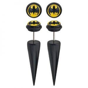 Bruce Wayne Logo Earrings