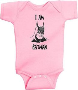 Bruce Wayne Pink Romper