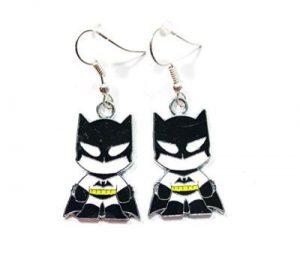 Bruce Wayne Silver Metal Earrings