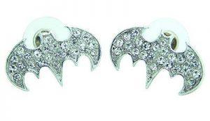 Bruce Wayne and Crystal Stud Earrings