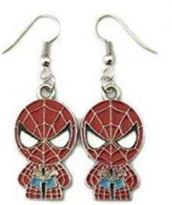 Peter Parker Marvel Spiderman Chibi Style Dangle Earrings