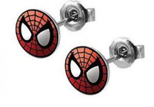 Peter Parker Mens or Womens Stainless Spiderman Stud Earrings