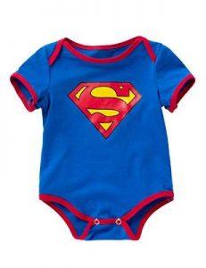 Clark Kent Newborn Romper