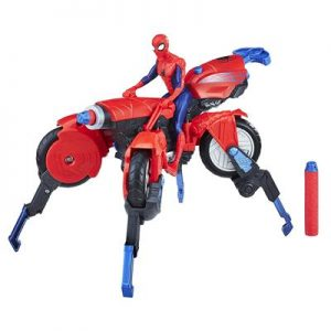 Peter Parker Marvel 3-in-1 Spider Cycle Figure
