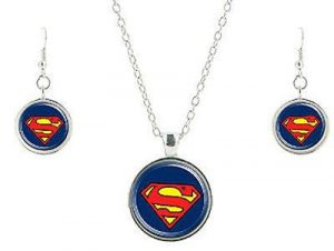 Clark Kent Necklace and Earrings Set