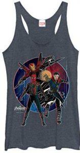 Peter Parker Women's Avengers Infinity War Spider-Man Circle Racer back Tank Top