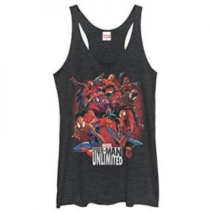 Peter Parker Spider-Man Unlimited Versions Racer back Tank Top