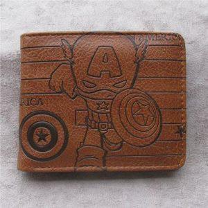 Steve Rogers Brown Wallet