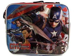 Steven Rogers Civil War Kids School Lunch Box