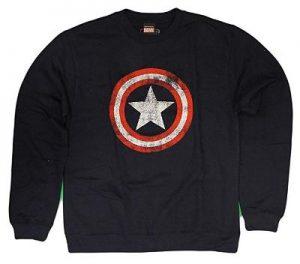 Steve Rogers Distressed Shield Crewneck Sweatshirt