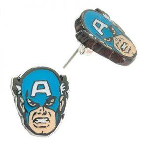 Steve Rogers Face Enamel Earrings