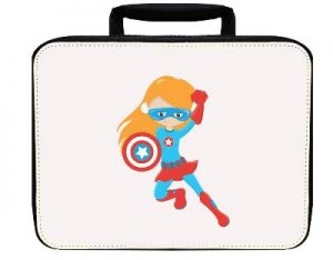 Steven Rogers Girl Red Nylon Insulated Lunch Box