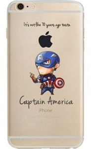 Steve Rogers Jelly Clear Case for Apple iPhone 8
