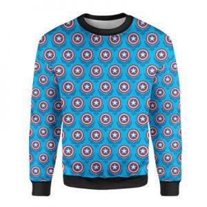 Steve Rogers Logo Avengers Superhero Inspired Mens Sweatshirt