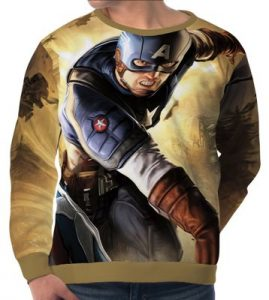 Steve Rogers Men's Long Sleeve Sweatshirt