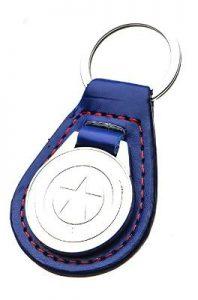 Steve Rogers Shield Leather Keychain