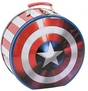 Steven Rogers Shield Shaped Tin Tote Lunch Box
