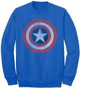 Steve Rogers Star Shield Crew Fleece Sweatshirt