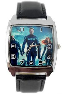 Steve Rogers - Winter Soldier Genuine Leather Quartz Wrist Watch