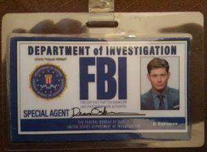 Jensen Ackles FBI Badge for from Supernatural